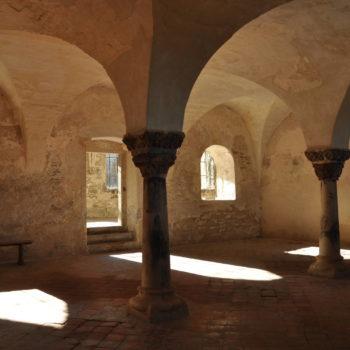 Bild eines Klosters - Geschichte des Klostergartens